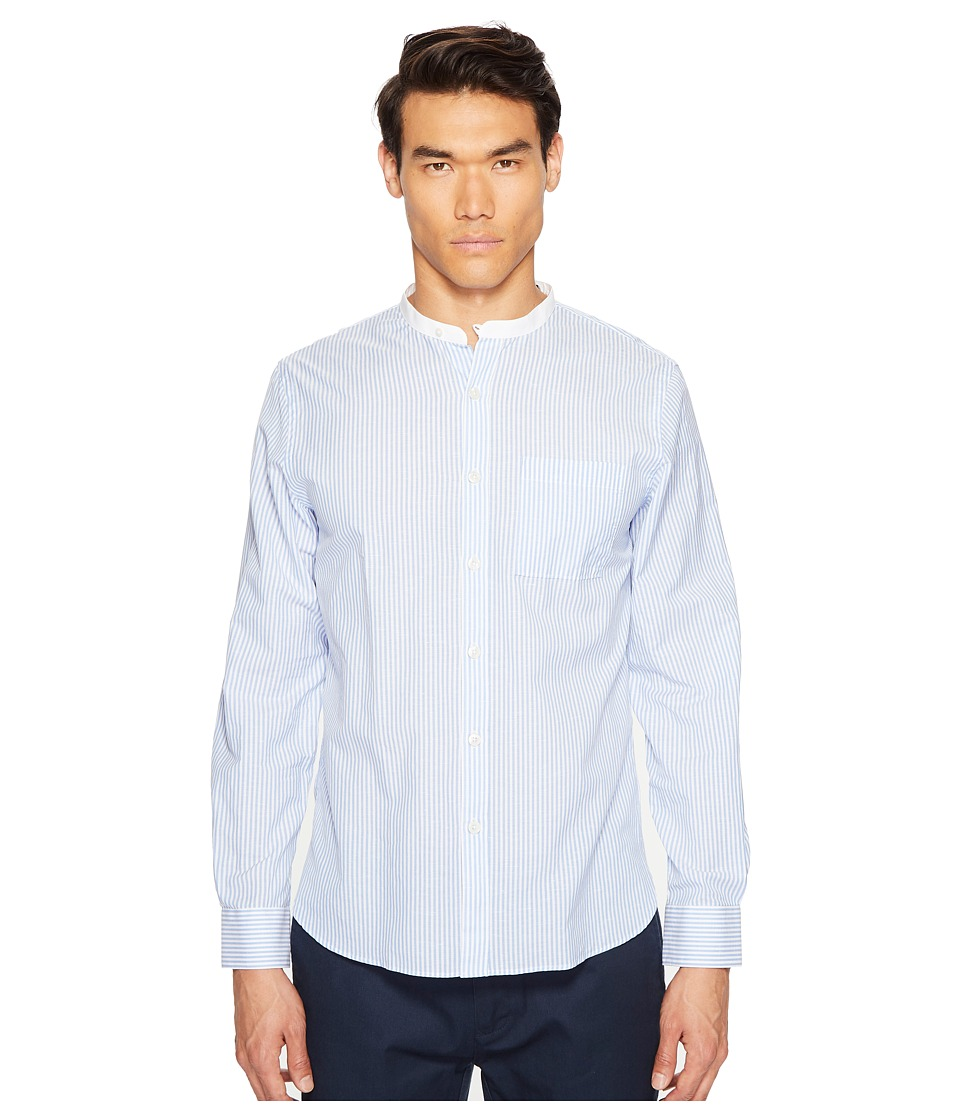 Todd Snyder Todd Snyder - Bengal Stripe White Band Collar Shirt