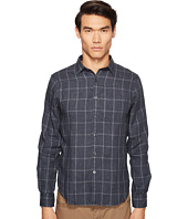 Todd Snyder - Windowpane Spread Collar Linen Shirt