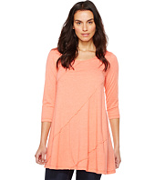 Mod-o-doc - Heather Jersey 3/4 Sleeve Swing Tunic