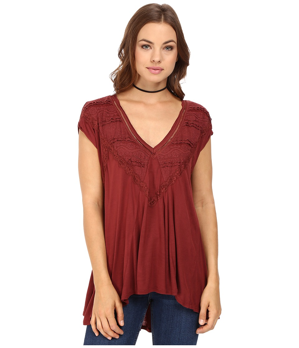 Free People Abigail Tee (Wine) Women