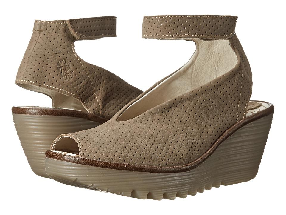 FLY LONDON Yala Perf (Khaki Cupido/Mousse) Women's Shoes