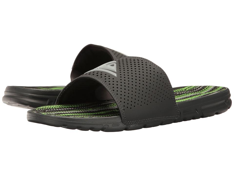 Quiksilver Amphibian Slide (Grey/Grey/Green) Men