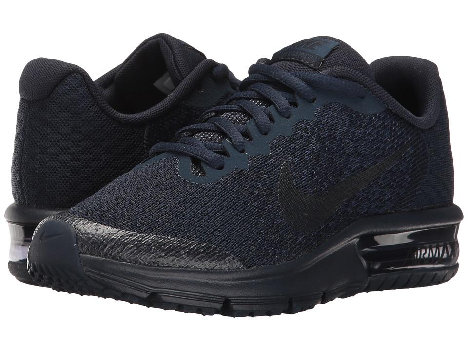 Nike Kids Air Max Sequent 2 (Big Kid) (Obsidian/Dark Obsidian/Midnight Navy) Boys Shoes