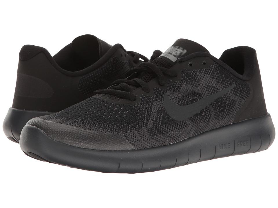 Nike Kids Free RN 2 (Big Kid) (Black/Anthracite/Dark Grey/Cool Grey) Boys Shoes