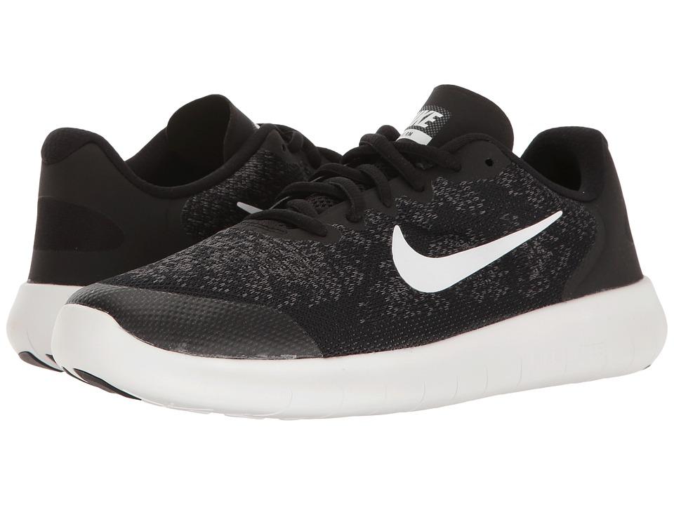 Nike Kids Free RN 2 (Big Kid) (Black/White/Dark Grey/Anthracite) Boys Shoes