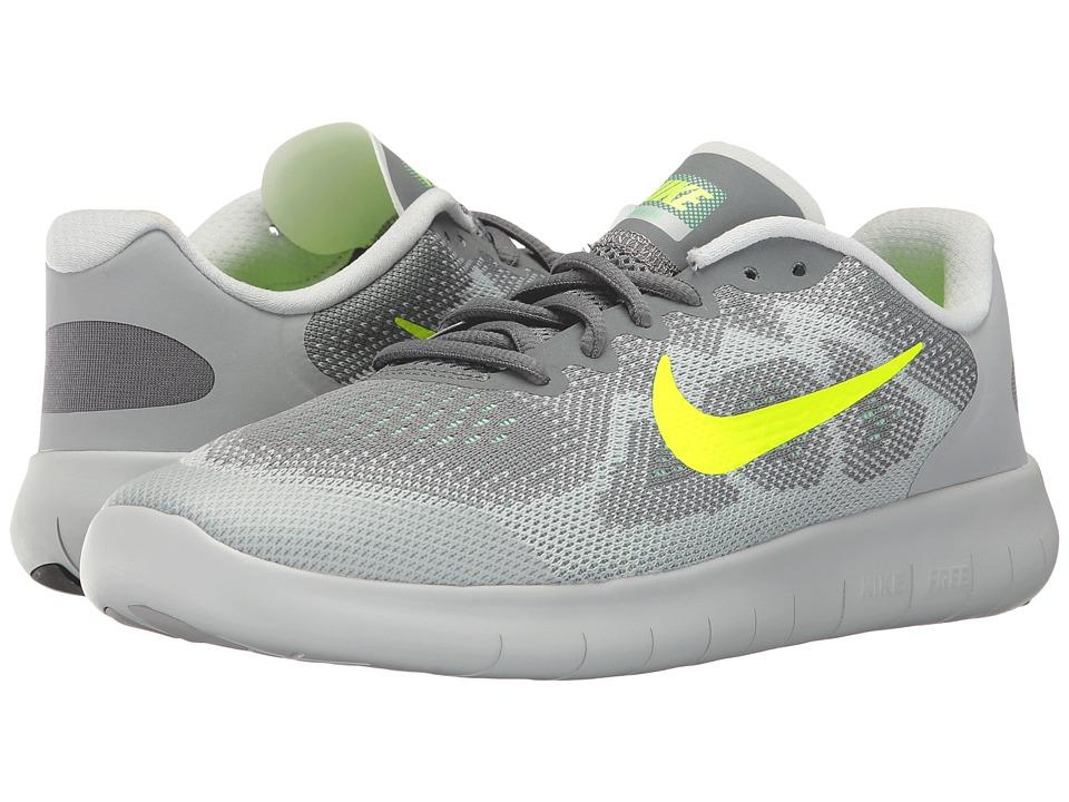 Nike Kids Free RN 2 (Big Kid) (Cool Grey/Volt/Wolf Grey/Electro Green) Boys Shoes