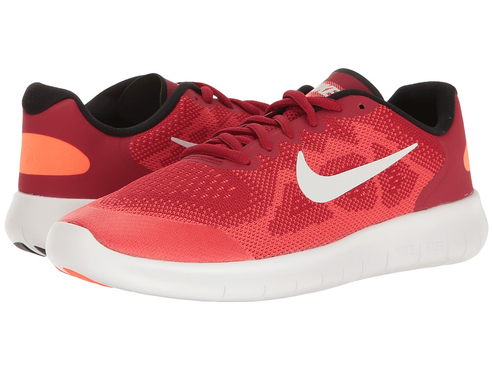 Nike Kids Free RN 2 (Big Kid) (Gym Red/Off-White/Track Red) Boys Shoes