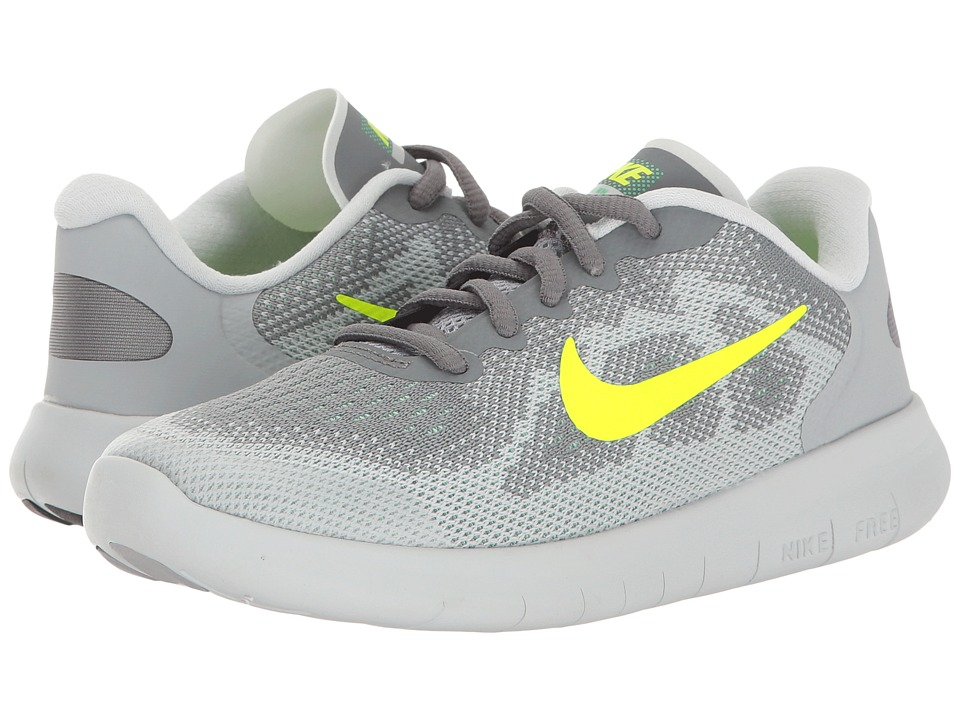 Nike Kids Free RN 2017 (Little Kid) (Cool Grey/Volt/Wolf Grey/Electro Green) Boys Shoes