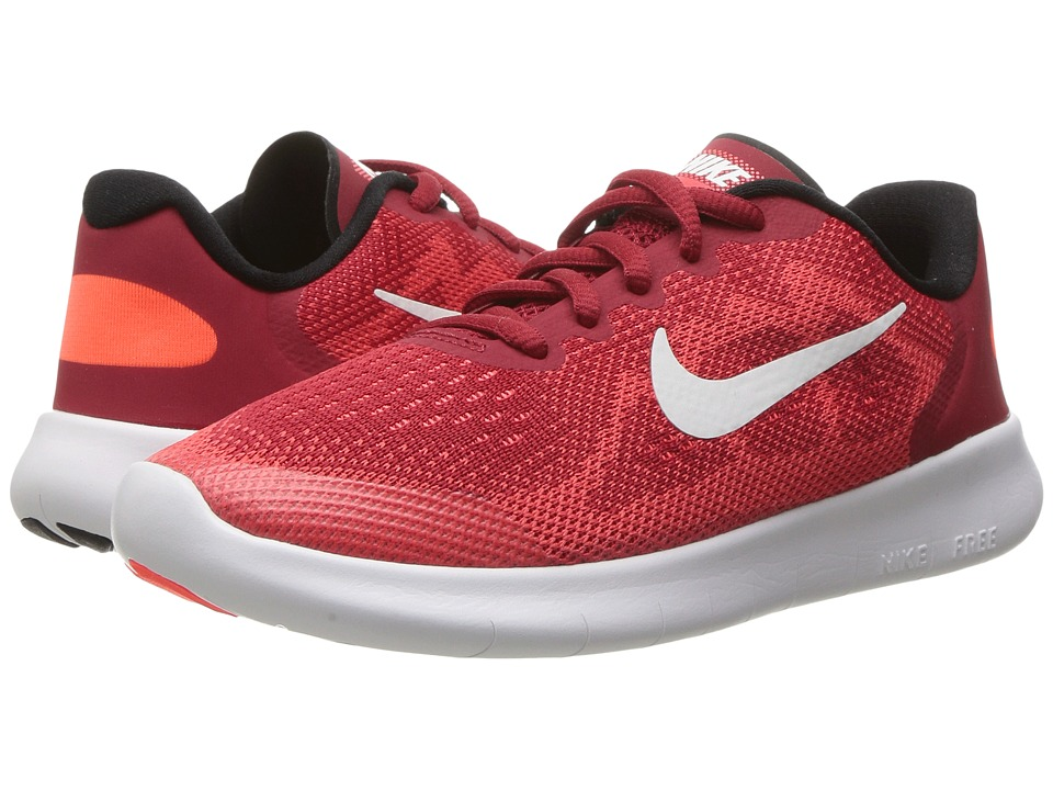 Nike Kids Free RN 2017 (Little Kid) (Gym Red/Off-White/Track Red) Boys Shoes