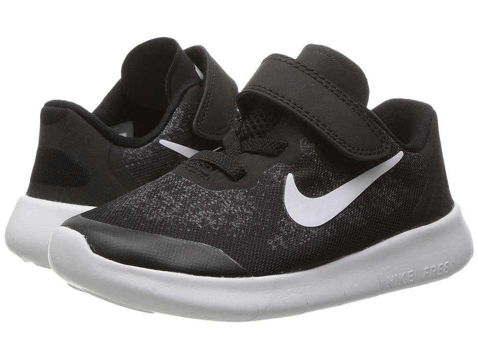 Nike Kids Free RN 2017 (Infant/Toddler) (Black/White/Dark Grey/Anthracite) Boys Shoes