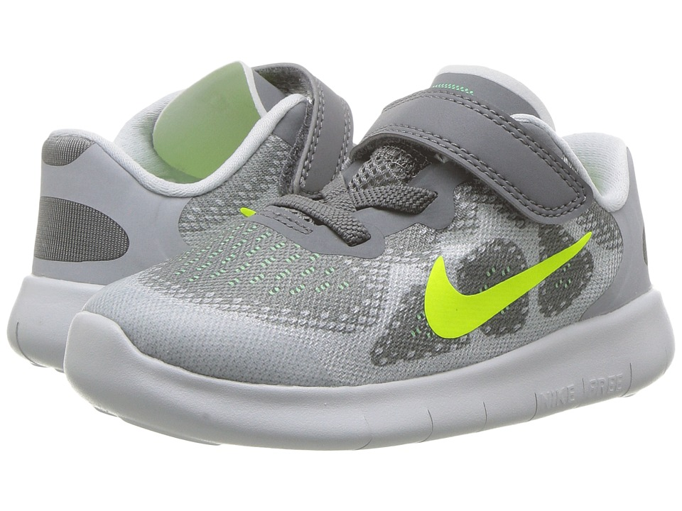 Nike Kids Free RN 2017 (Infant/Toddler) (Cool Grey/Volt/Wolf Grey/Electro Green) Boys Shoes