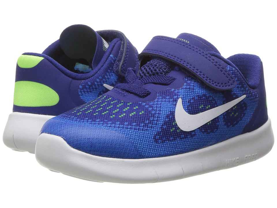 Nike Kids Free RN 2017 (Infant/Toddler) (Deep Royal Blue/White/Soar/Ghost Green) Boys Shoes