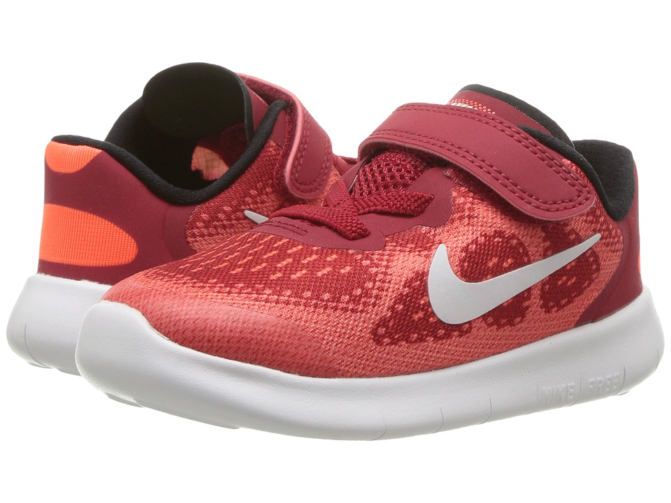 Nike Kids Free RN 2017 (Infant/Toddler) (Gym Red/Off-White/Track Red) Boys Shoes