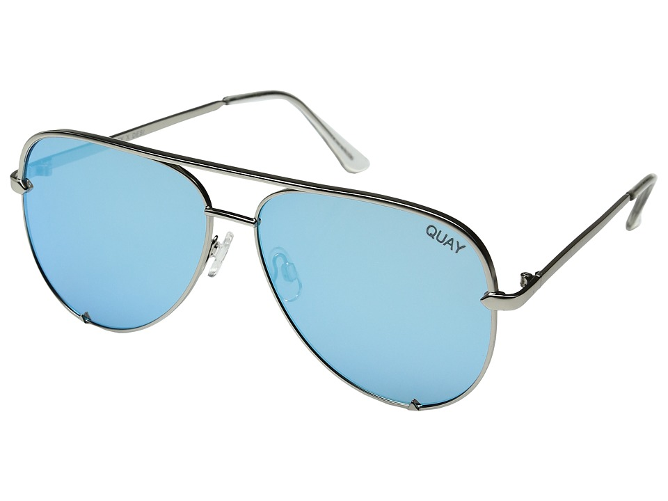 QUAY AUSTRALIA High Key QUAY X DESI (Silver/Blue) Fashion Sunglasses