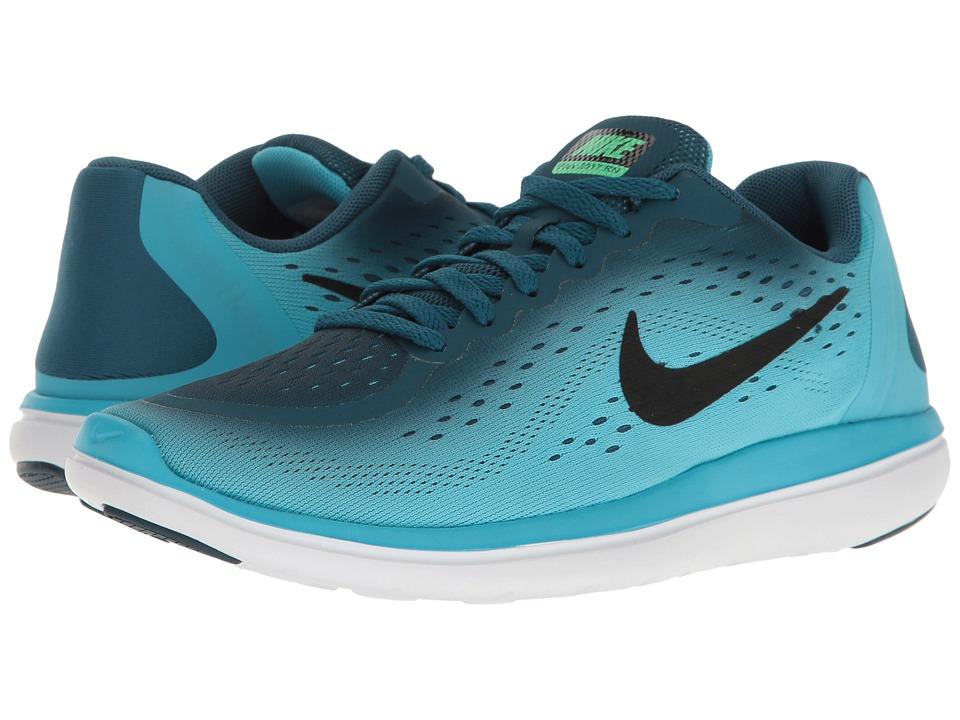 Nike Kids Flex RN 2017 (Big Kid) (Legion Blue/Black/Chlorine Blue) Boys Shoes
