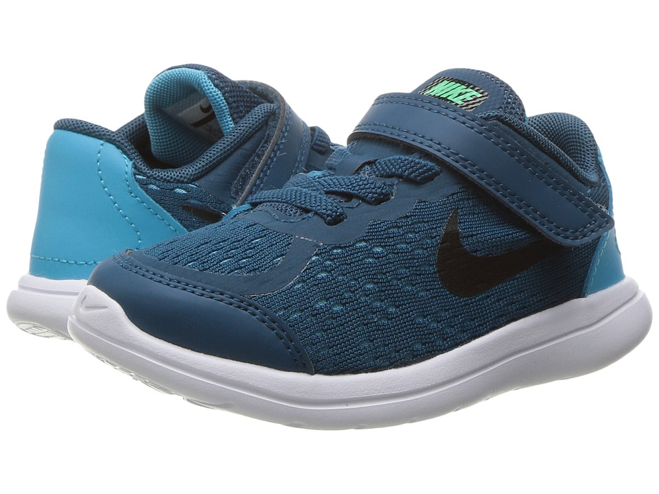 Nike Kids Flex RN 2017 (Infant/Toddler) (Legion Blue/Black/Chlorine Blue) Boys Shoes
