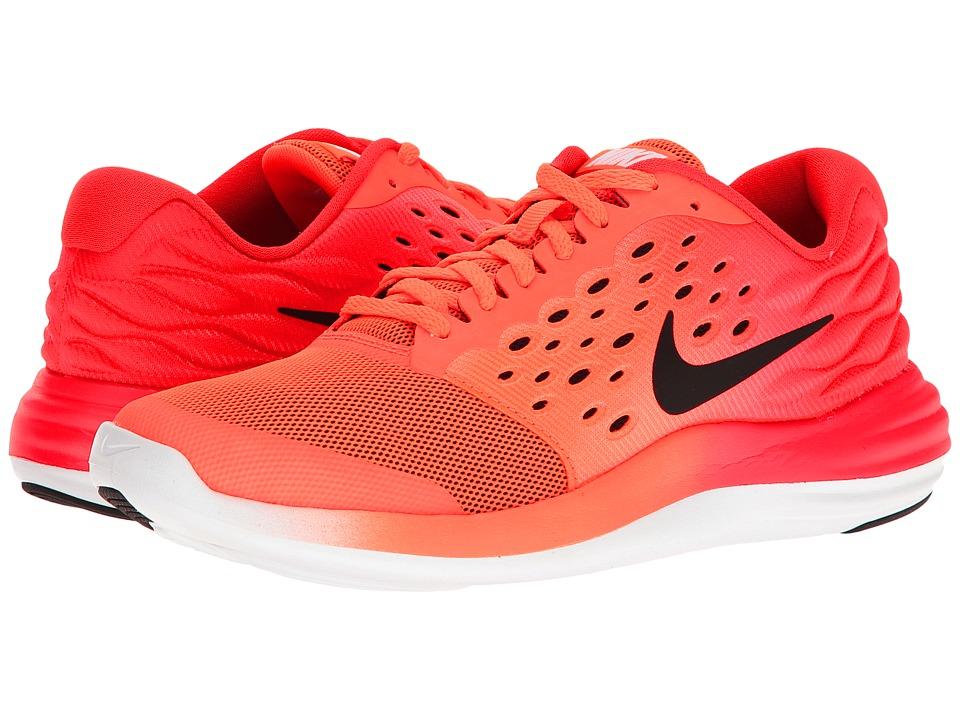 Nike Kids Lunastelos (Big Kid) (Hyper Orange/Black/Track Red/White) Boys Shoes