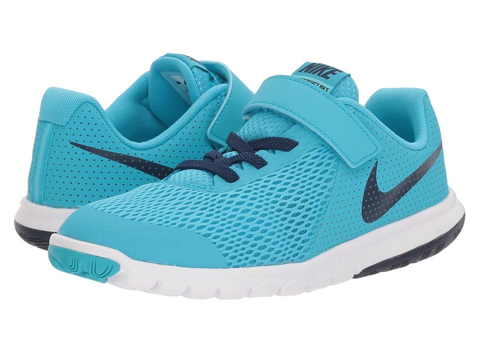 Nike Kids Flex Experience 5 (Little Kid) (Chlorine Blue/Binary Blue/Polarized Blue) Boys Shoes