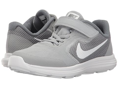 Nike Kids Revolution 3 (Little Kid) - Wolf Grey/White/Cool Grey