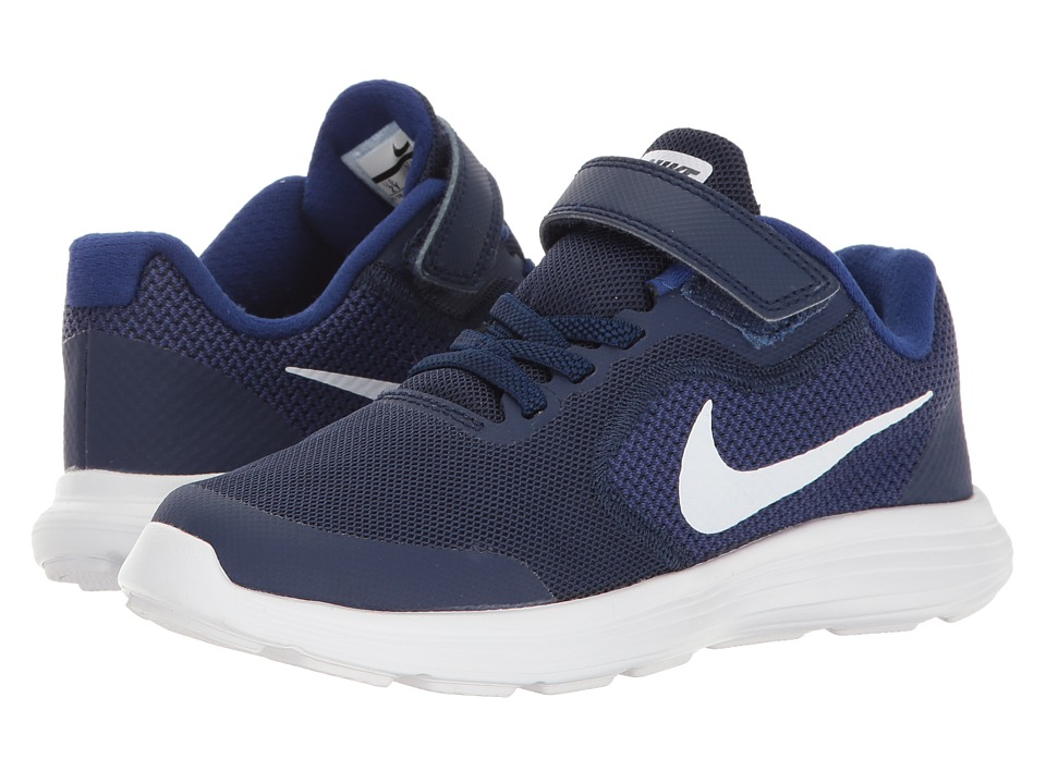 Nike Kids Revolution 3 (Little Kid) (Binary Blue/White/Deep Royal Blue) Boys Shoes