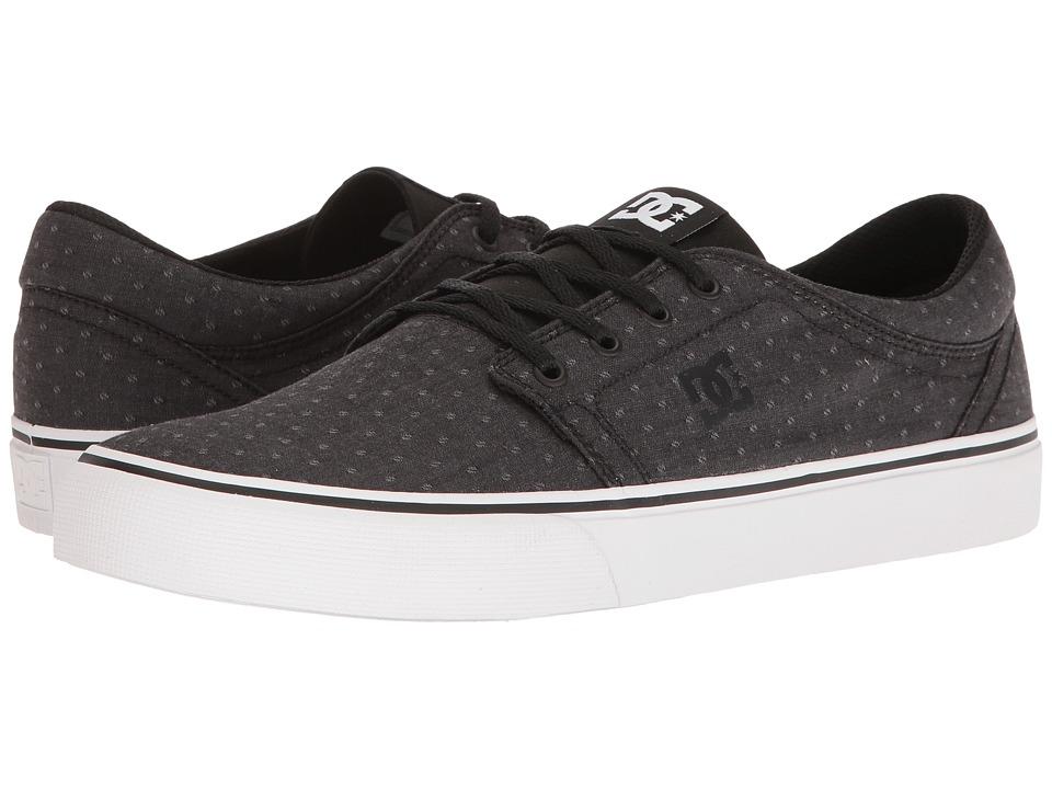 DC Trase TX SE (Black/Polka Dot) Skate Shoes