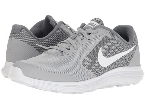 Nike Kids Revolution 3 (Big Kid) - Wolf Grey/White/Cool Grey