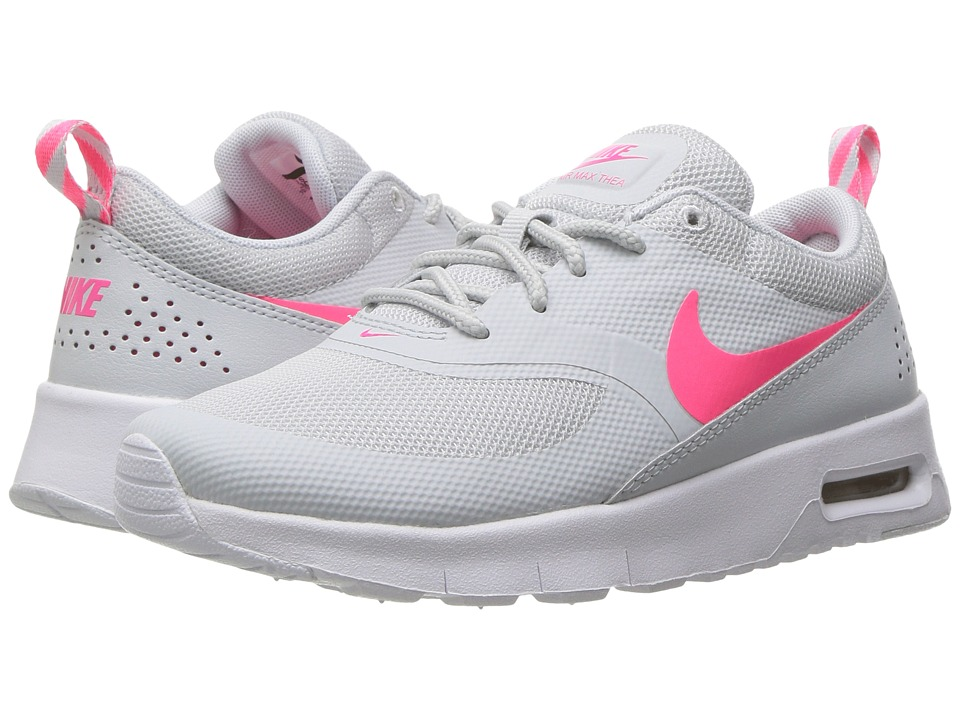 Nike Kids Air Max Thea (Little Kid) (Pure Platinum/Racer Pink/White) Girls Shoes