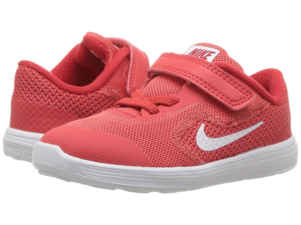 Nike Kids Revolution 3 (Infant/Toddler) (Track Red/White/University Red) Boys Shoes