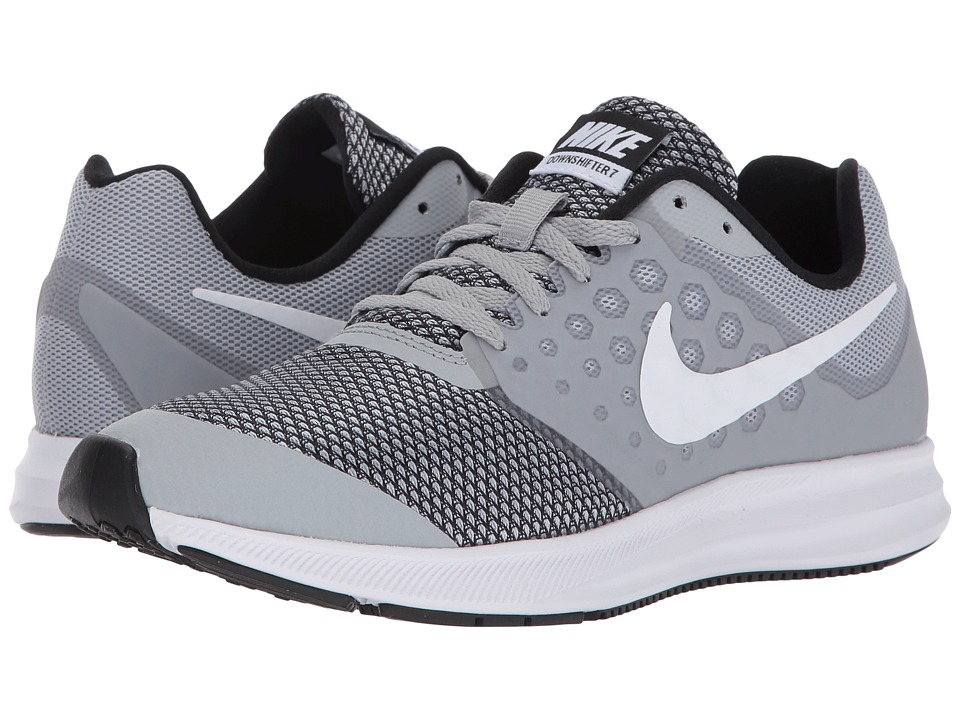 Nike Kids Downshifter 7 (Big Kid) (Wolf Grey/White/Black) Boys Shoes