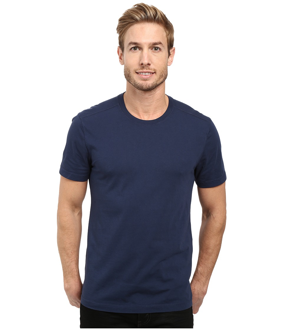 Agave Denim Agave Supima Crew Neck Short Sleeve Tee (Black Iris Navy) Men