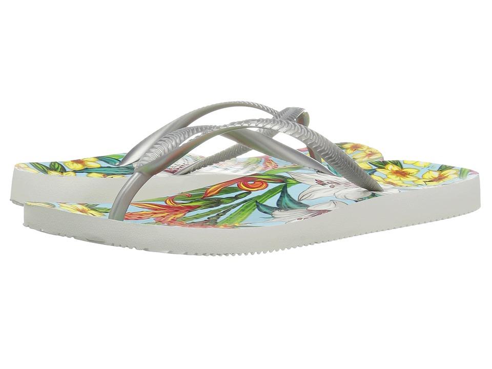VIONIC - Beach Noosa (Light Blue Floral/Silver) Women's Sandals