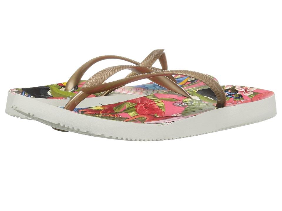 Vionic Beach Noosa (Red Tropical/Bronze) Women's Sandals