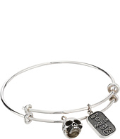 King Baby Studio - Adjustable Bangle Bracelet with Hamlet Skull Charm