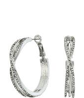 GUESS - Stone Clutchless Hoop Earrings