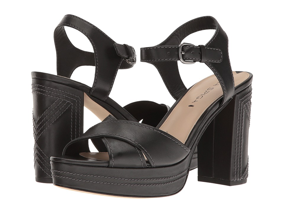 Via Spiga Brianna (Black Leather) Women