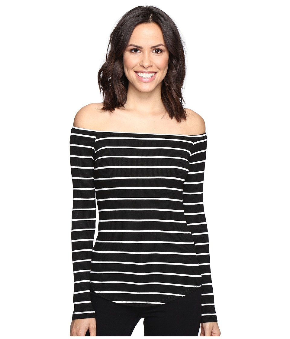 LNA Off the Shoulder Top (Cream/Black Stripe) Women