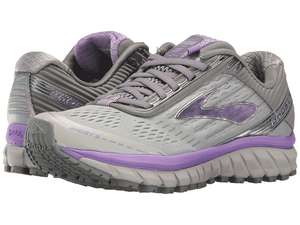Brooks Ghost 9 (Grey/Primer Grey/Lilac) Women