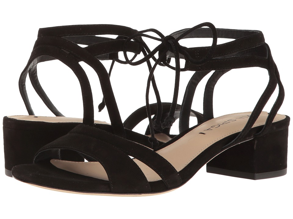 Via Spiga Taryn (Black Suede) Women