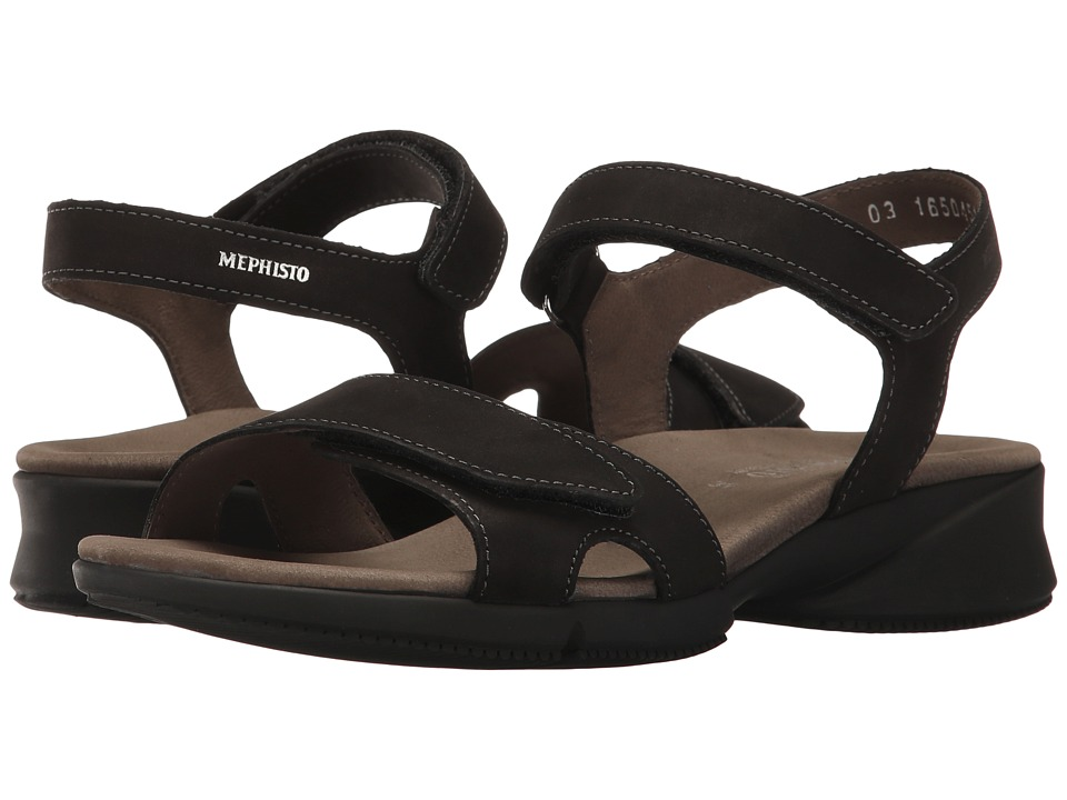 Mephisto - Francesca (Black Bucksoft) Women's Sandals