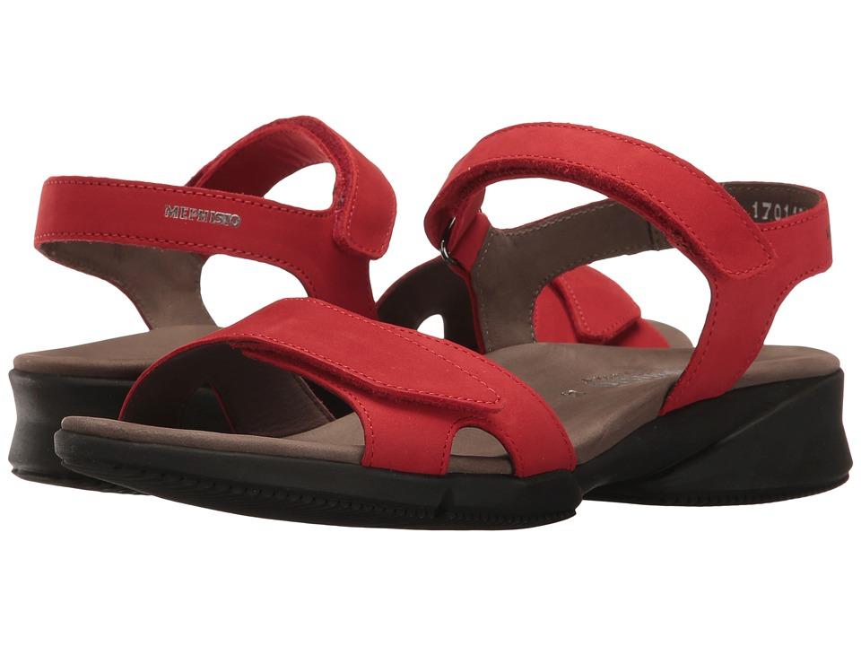 Mephisto - Francesca (Strawberry Bucksoft) Women's Sandals