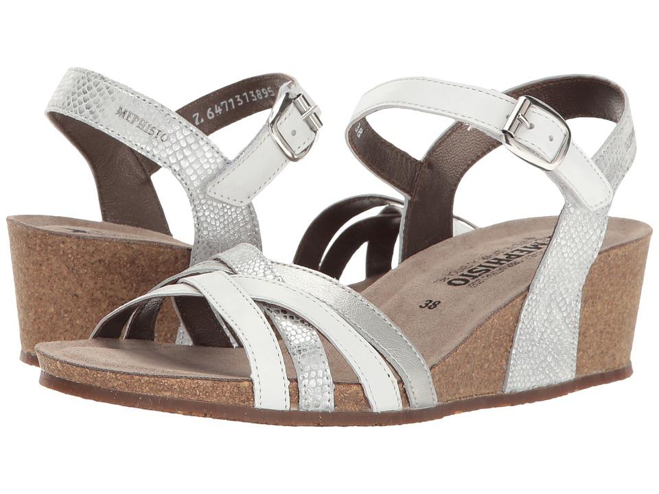 Mephisto - Mado (White Silk/Silver Savana/Perl Calfksin) Women's Sandals