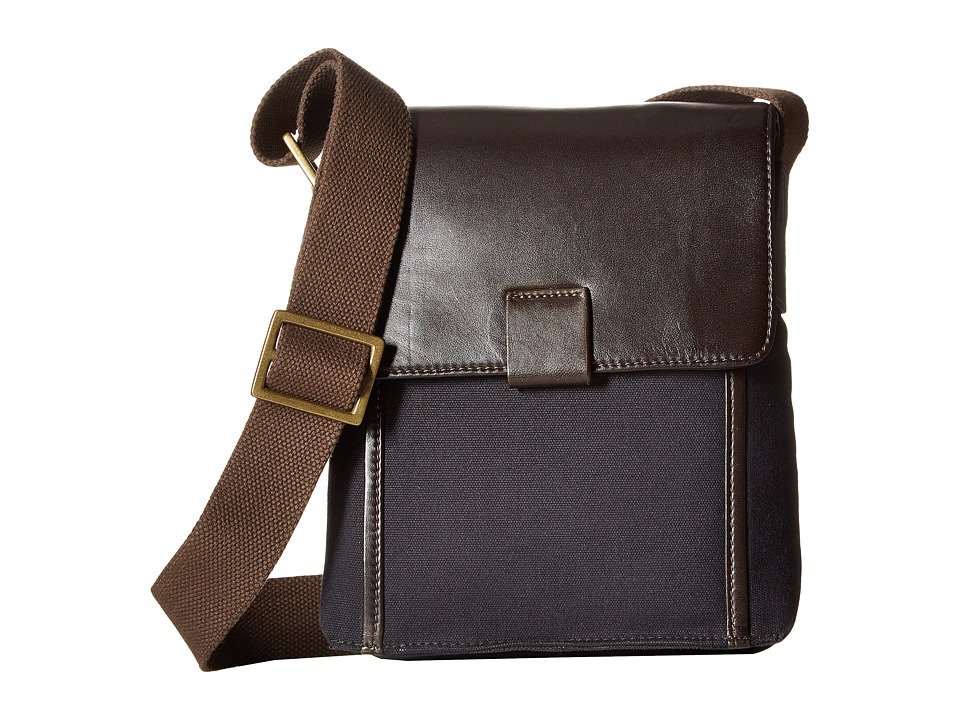 Scully Adrian Messenger Bag (Brown/Navy) Messenger Bags