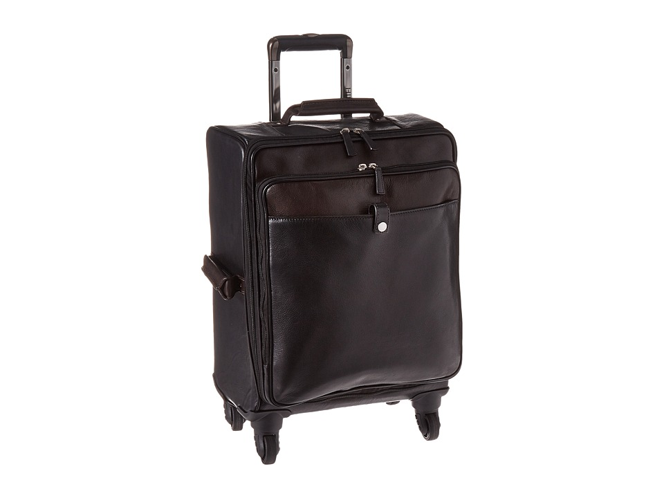 Scully Aaron Wheeled Carry-On (Black/Brown) Bags