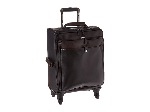 Scully Aaron Wheeled Carry-On - Black/Brown