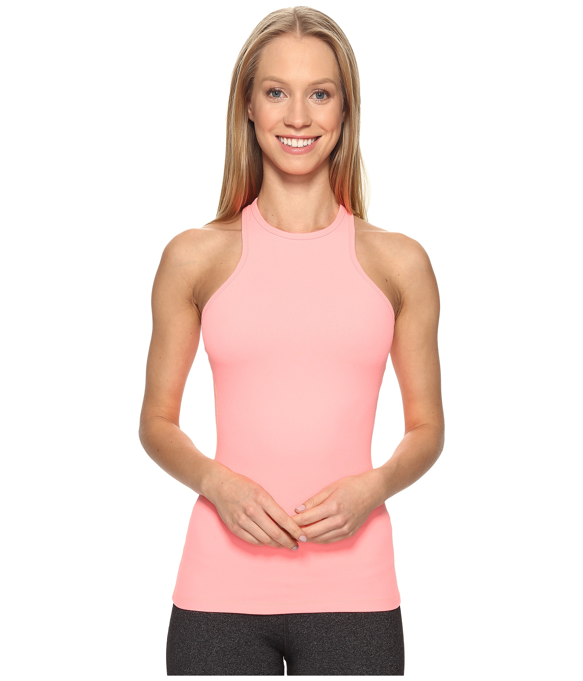 Beyond Yoga Under Lock And Keyhole Tank Top Coral Reef