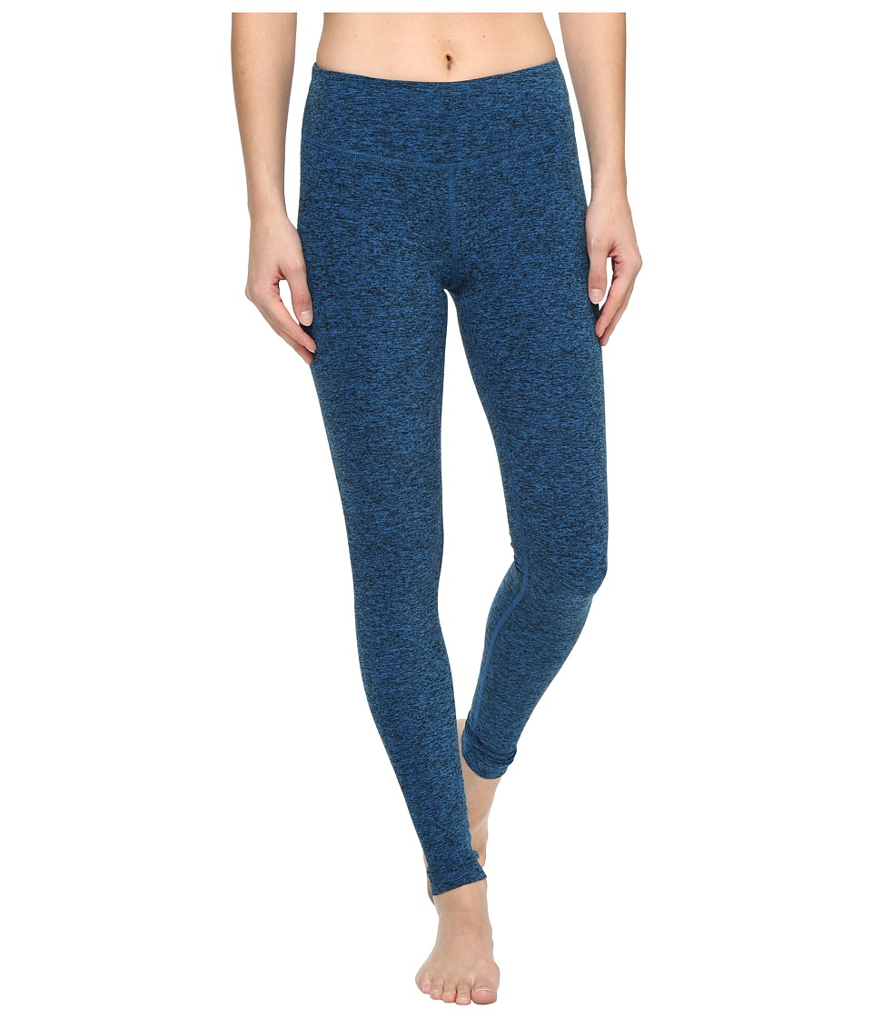 Beyond Yoga - Spacedye Long Essential Leggings (Black/Tidal Blue Spacedye) Womens Casual Pants