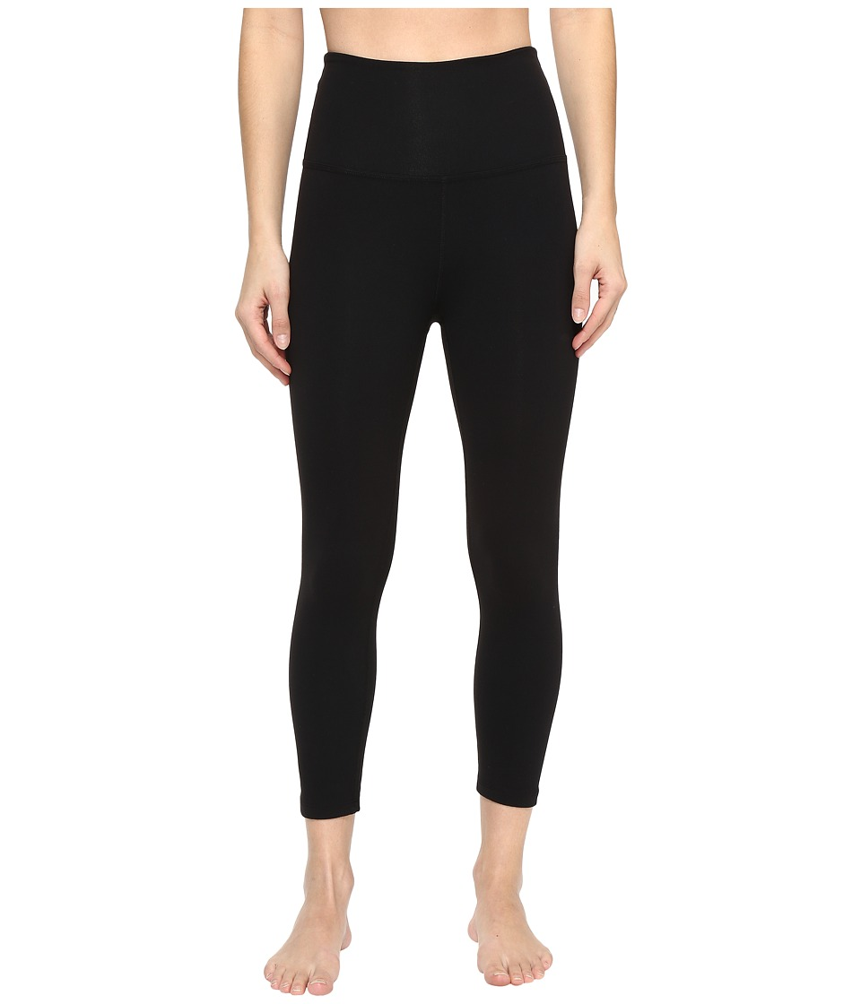 Beyond Yoga - High Waist Capri Leggings (Jet Black) Womens Casual Pants