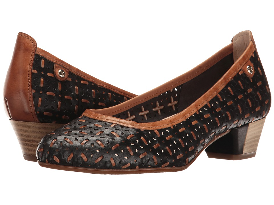 1930s Style Shoes Pikolinos - Elba W3M-5682 BlackBrandy Womens Shoes $180.00 AT vintagedancer.com