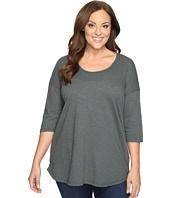 Allen Allen - Plus Size Elbow Sleeve Tee w/ High-Low