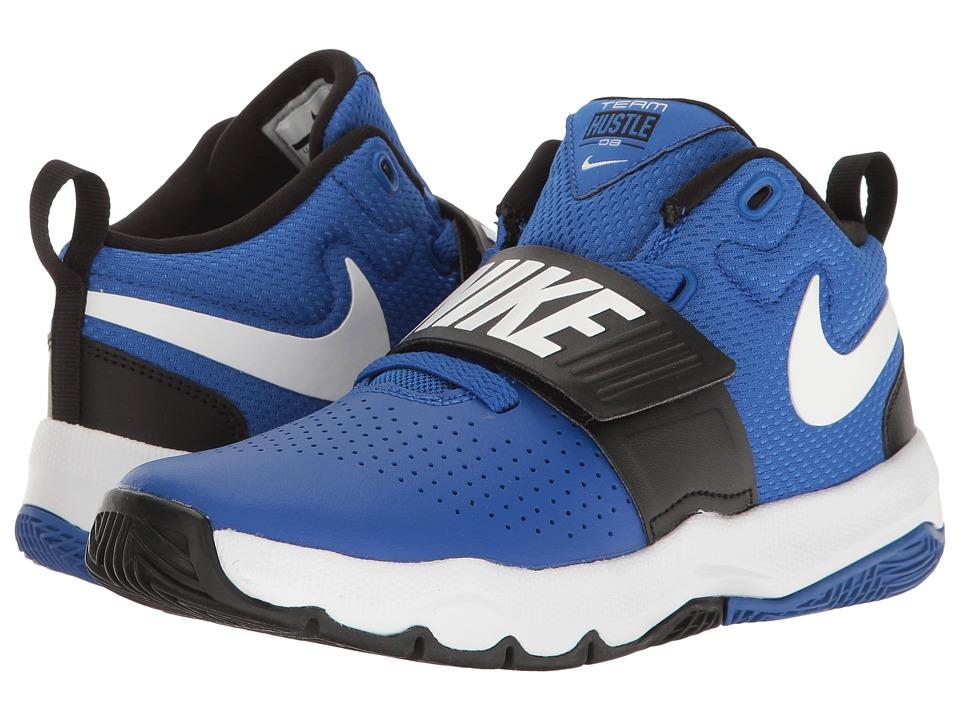 Nike Kids Team Hustle D8 (Little Kid) (Game Royal/White/Black) Boys Shoes